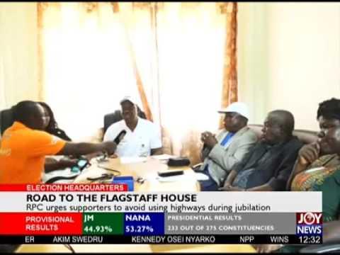 Ashanti Regional Peace Council Media Briefing - Election HQ on Joy News (9-12-16)