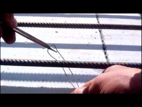 Как пользоваться крючком для вязки арматуры