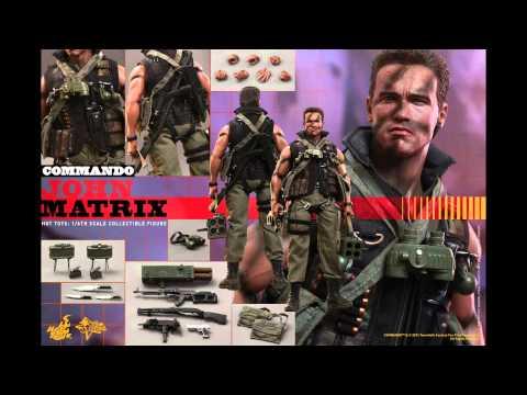Hot Toys Custom Arnold Schwarzenegger COMMANDO JOHN MAT ...