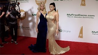 Romi Rain, Charlotte Stokely 2018 XBIZ Awards Red Carpet