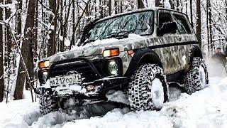 Нивы 4х4 на бездорожье и Джип оффроуд в снегу, покоряем Щепиловский лес