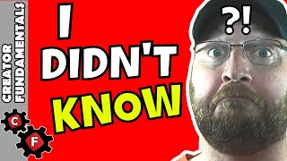 3 Things I Wish I Knew when I First Started on YouTube