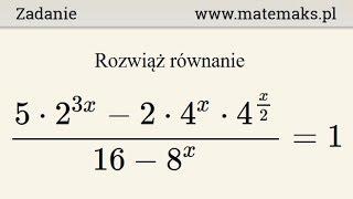 Równanie wykładnicze - przykład 14