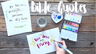 Bible Quotes With Brushlettering Apuntoc