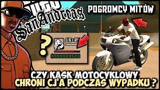 Czy kask motocyklowy chroni CJ'a podczas wypadku? - Pogromcy Mitów GTA San Andreas! #17