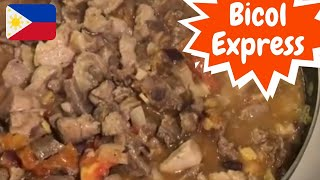 BICOL EXPRESS RECIPE! SPICY PORK AND BEEF, FILIPINO FOOD!