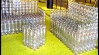 Диван из пластиковых бутылок(Диван из пластиковых бутылок можно сделать на даче или в качестве садовой мебели. Впрочем, если делать акку..., 2013-05-30T14:37:28.000Z)