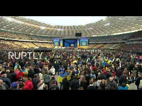 LIVE: Poroshenko and Zelenskiy face off in stadium debate