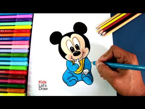 Cómo Dibujar A Bebé Mickey Mouse | How To Draw Baby Mickey Mouse