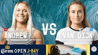 Keely Andrew vs. Nikki Van Dijk - Round Two, Heat 6 - Corona Open J-Bay - Women's 2018
