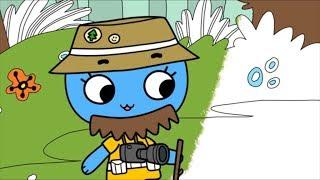 Раскраска Котики, Вперед! -  Оставайся на месте - развивающие мультики для детей / Учим цвета - 30