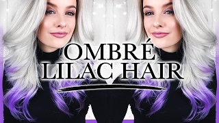 HOW TO DYE YOUR HAIR OMBRÉ LILAC ad