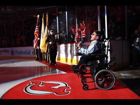 Sparsh Shah sings US National Anthem for NJ Devils Vs Dallas Stars Game at Prudential Center