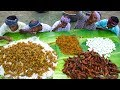 VILLAGE MARRIAGE FOOD | Mutton Curry | Fish Fry | Boiled Egg Raththa Poriyal | Village Function Food
