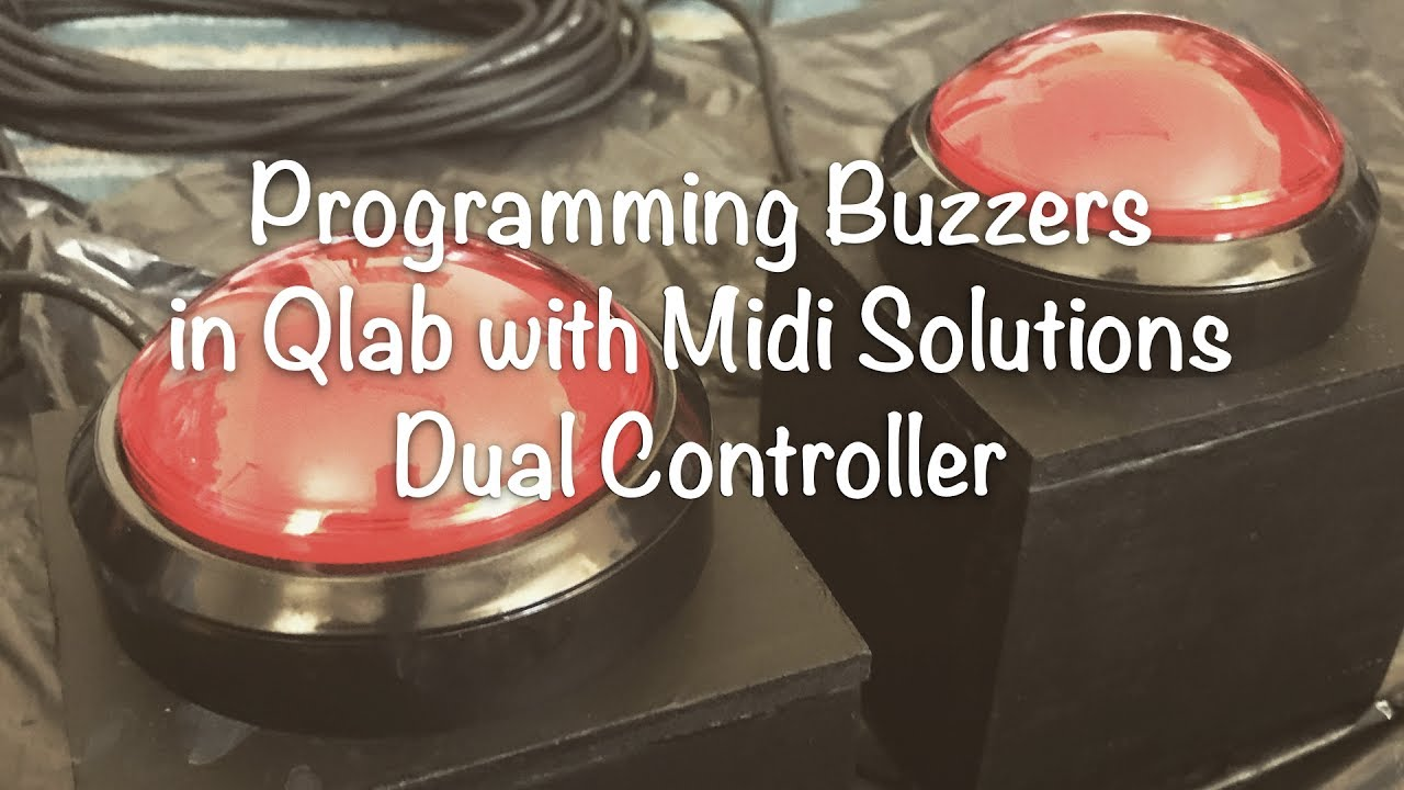 Programming Game Show Buzzers in Qlab with Midi Solutions Dual Footswitch  Controller
