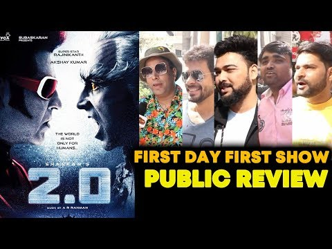 2.0 Movie PUBLIC REVIEW | First Day First Show | HOUSEFULL | Rajnikanth | Akshay Kumar