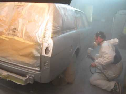 Ford Cortina Mk 2 Estate. Re-spray in action at Paint Barn ltd.O S