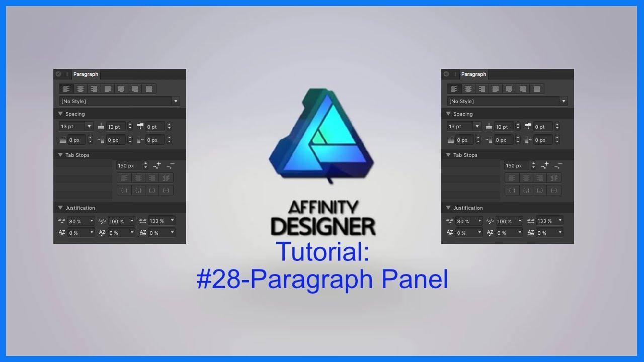 Affinity designer tutorial 28 paragraph panel youtube affinity designer tutorial 28 paragraph panel ccuart Choice Image