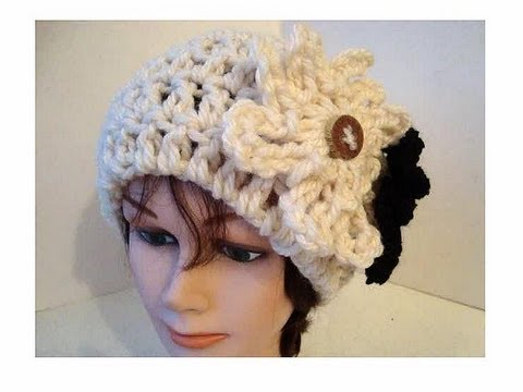 CROCHET PATTERN, cloche hat, Adult size - YouTube