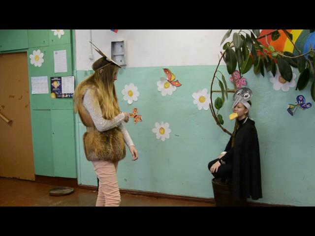 Изображение предпросмотра прочтения – «Комарова Дарья, Малыгина Полина» читают произведение «Ворона и Лисица» И.А.Крылова