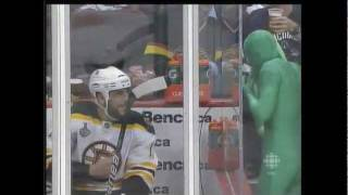 Milan Lucic has words with the Green Men thumbnail