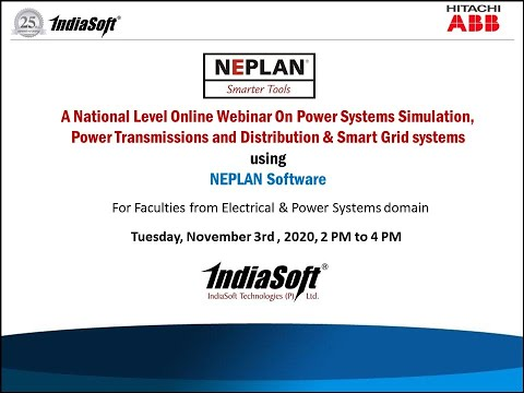 Webinar on Simulation of Power system, Renewable Energy, Smart Grids  by NEPLAN Software 03/11/2020