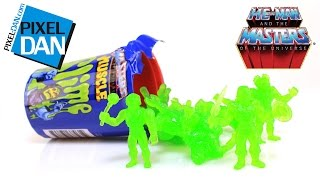 MOTUSCLE Slime Can Masters of the Universe M.U.S.C.L.E. Mini Figures Video Review