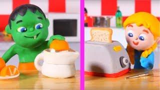 Kids Cooking Breakfast ❤ Cartoons For Kids
