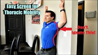 Thoracic Mobility Screen