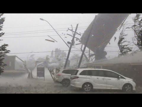 Europe is SUFFERING! Now the storm hits Finland in Olulu. Heavy rain and strong wind.
