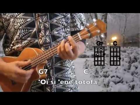 Ukulelevis: Tongan Pō Malu, with Silent night(key of C), chords, lyrics ukulele song