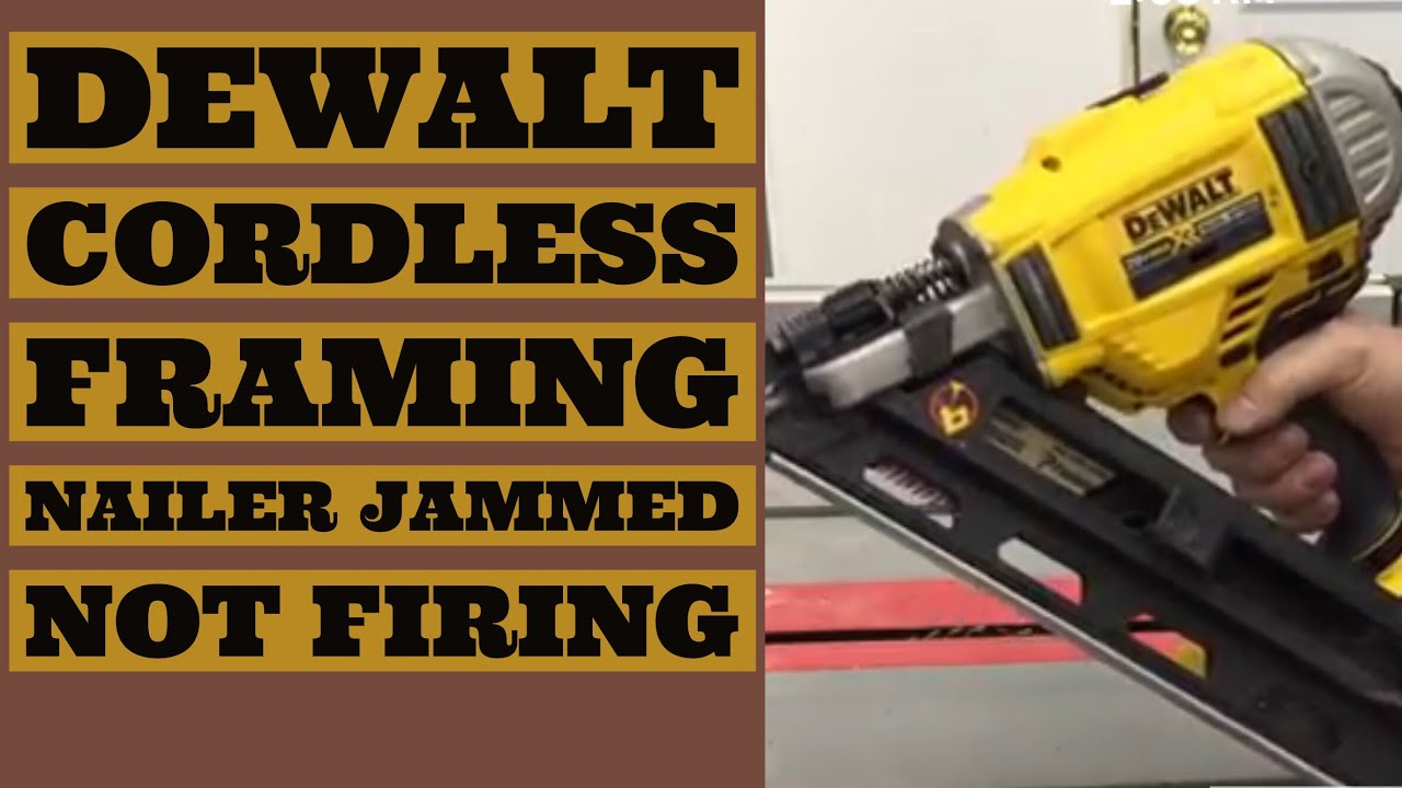 Dewalt Nail Gun Service Repair - User Manual Guide •