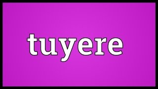 Tuyere Meaning