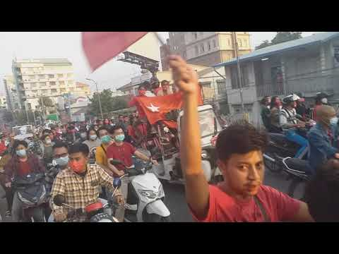 Myanmar citizens boycott the Military coup