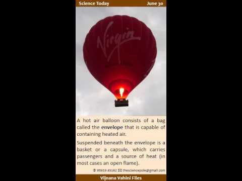 Science Today - June 30 - Paul Edward Yost, Montgolfier brothers and hot-air balloons