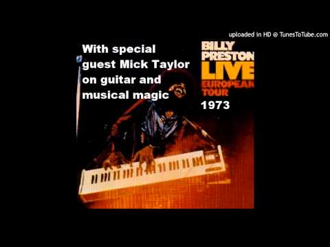"""Billy Preston with Mick Taylor on Guitar 1973  """"The Bus"""""""