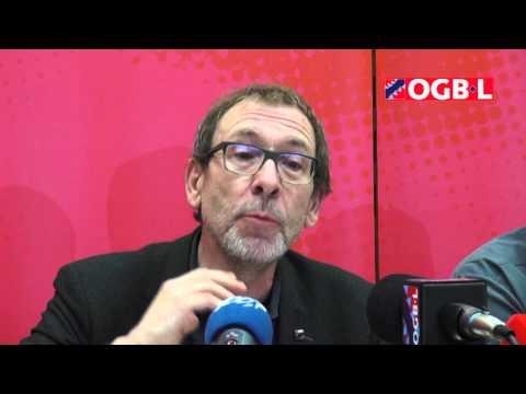 OGBL - CONFERENCE DE PRESSE SUR LE TEMPS DE TRAVAIL - 29/10/2015