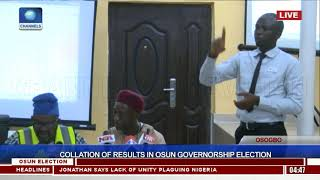 Collation Of Results In Osun Governorship Election Pt.10  Osun Decides 
