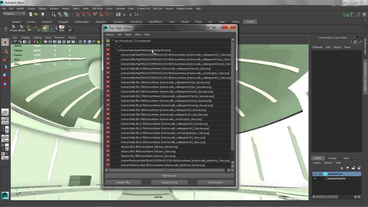 Maya 2014 New Features: File Path Editor