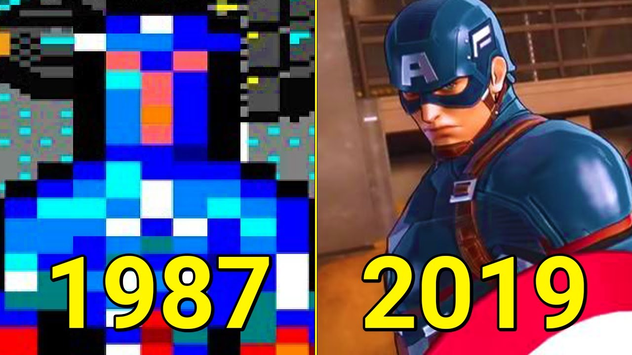 Evolution Of Captain America In Games 1987 2019 Youtube