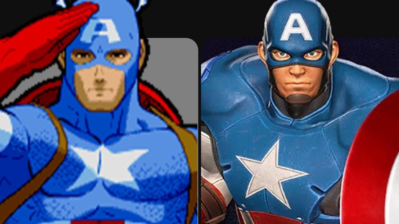 Evolution Of Captain America In Games 1987 2019 Youtube