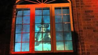 Halloween Yard Haunt Graveyard  2015  Atmosfear FX The witching Hour Window Display