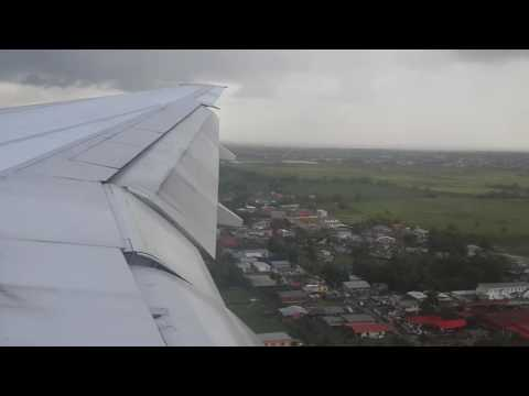 British Airways approaching Piarco International, Port of Spain, Trinidad from St.  Lucia