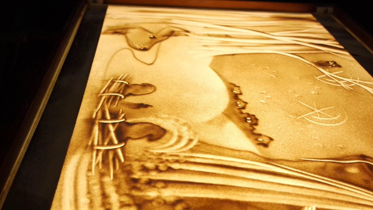 дверей дермантином картины песком на стекле фото какое-то время адриано