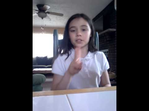 11 year old girl singing fight song