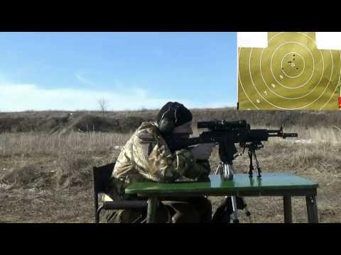 Сайга МК 03 к. 7,62*39 стрельба на 100м и 300м.