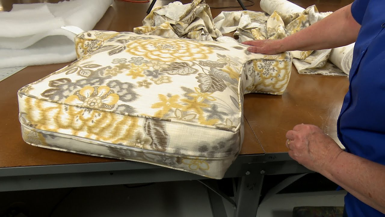 How To Make Armchair Cushions Youtube