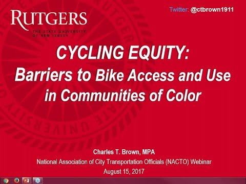 Webinar - Cycling Equity: Barriers to Bike Access and Use in Communities of Color