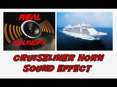 Cruiseliner Ship Horn Sound Effect Foghorn Warning RealsoundFX - Cruise ship sound effects