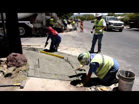 Santa Fe, New Mexico ADA-compliant curb